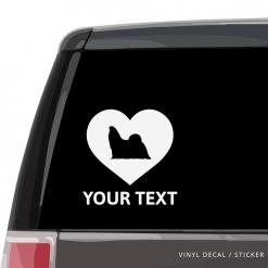 Shih Tzu Heart Car Window Decal