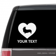 Pembroke Welsh Corgi Heart Car Window Decal