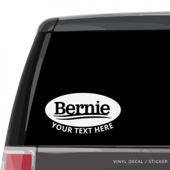 Bernie Sanders Custom (or not) Car Window Decal