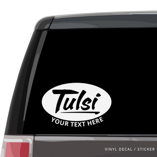 Tulsi Gabbard Custom (or not) Car Window Decal