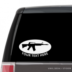 M16 Machine Gun Custom (or not) Car Window Decal