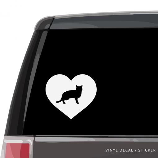 American Shorthair Cat Heart Custom Decal
