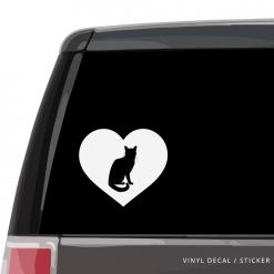Bengal Cat Heart Custom Decal