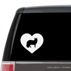 Maine Coon Cat Heart Custom Decal