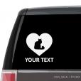 Norwegian Forest Cat Heart Car Window Decal