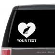 Oriental Shorthair Cat Heart Car Window Decal