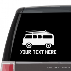 Surf Van Custom (or not) Car Window Decal