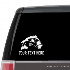 Largemouth Bass Custom (or not) Car Window Decal