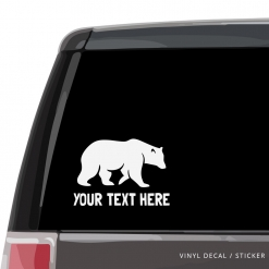 Bear Custom (or not) Car Window Decal