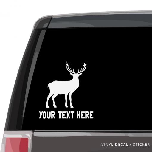 Deer Custom (or not) Car Window Decal