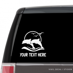 Jumping Dolphins Custom (or not) Car Window Decal