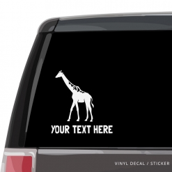 Giraffe Custom (or not) Car Window Decal