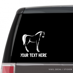 Horse Custom (or not) Car Window Decal