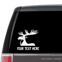 Moose Custom (or not) Car Window Decal