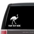 Ostrich Custom (or not) Car Window Decal