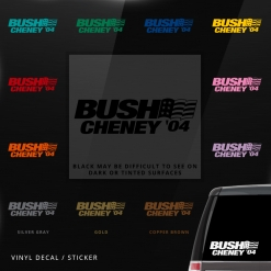 Bush Cheney Car Window Decal
