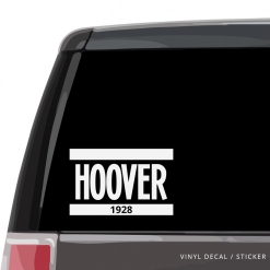 Hoover Car Window Decal