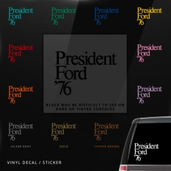 Gerald Ford Car Window Decal