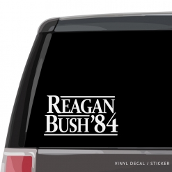 Ronald Reagan Bush Car Window Decal