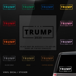 Trump 2020 Car Window Decal