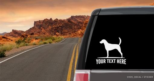 American Foxhound Sticker