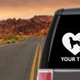 Afghan Hound Heart Sticker