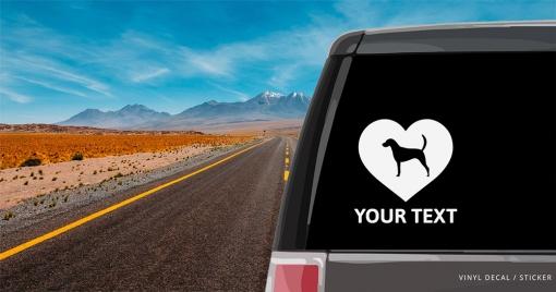 American Foxhound Heart Sticker