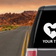 Beagle Heart Sticker