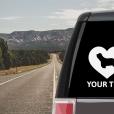 Bearded Collie Heart Sticker