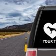 Doberman Pinscher Heart Sticker