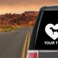 German Jagdterrier Heart Sticker