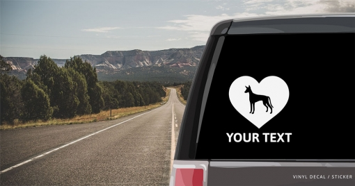 Ibizan Hound Heart Sticker