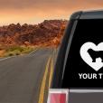Komondor Heart Sticker