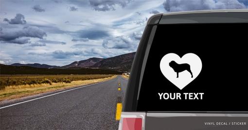 Neapolitan Mastiff Heart Sticker