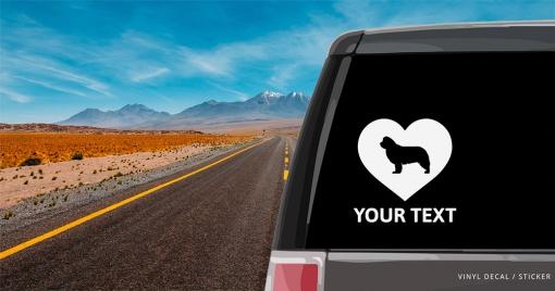 Newfoundland Heart Sticker