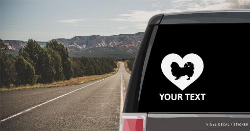 Pekingese Heart Sticker