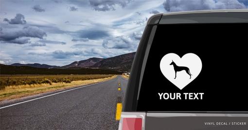 Pharaoh Hound Heart Sticker
