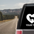 Presa Canario Heart Sticker
