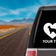 Pyrenean Shepherd Heart Sticker