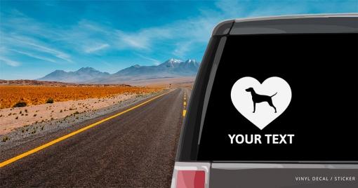 Vizsla Heart Sticker