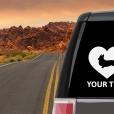 Pembroke Welsh Corgi Heart Sticker