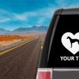 Whippet Heart Sticker