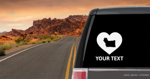 Yorkshire Terrier Heart Sticker