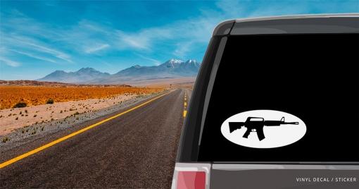 M16 Machine Gun  Personalized (or not) Sticker