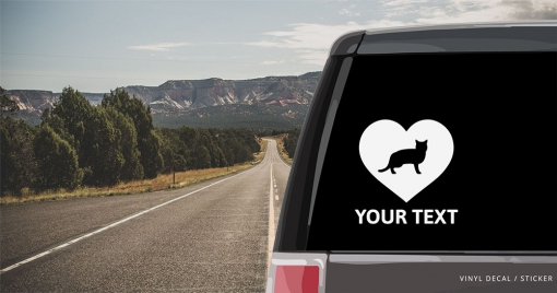 American Shorthair Cat Heart Sticker