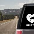 Bombay Cat Heart Sticker