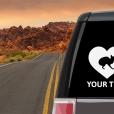 Donskoy Cat Heart Sticker