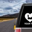 Munchkin Cat Heart Sticker