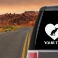 Oriental Shorthair Cat Heart Sticker