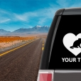 Scottish Fold Cat Heart Sticker